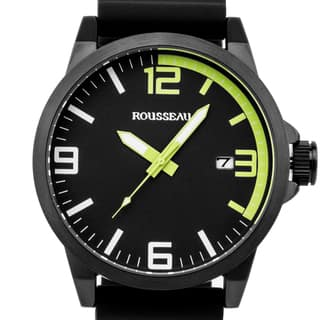 Rousseau Dufaux Men's sport watch, XL case size, bold accents, Miyota quartz movement|https://ak1.ostkcdn.com/images/products/12334693/P19165852.jpg?impolicy=medium