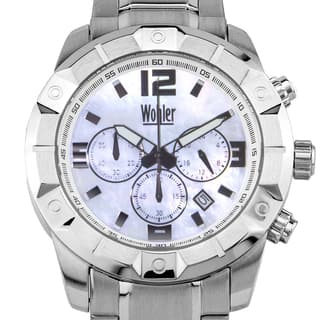 Wohler Wilhelm Men's sport/dress chronograph watch, Mother of Pearl dial|https://ak1.ostkcdn.com/images/products/12334731/P19165849.jpg?impolicy=medium