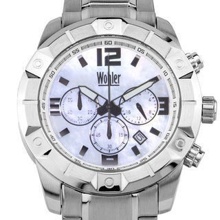 Wohler Wilhelm Men's sport/dress chronograph watch, Mother of Pearl dial