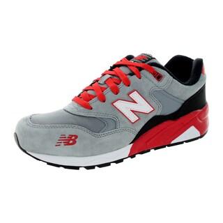 New Balance Men's 580 Lifestyle Grey/Red/Black Running Shoe