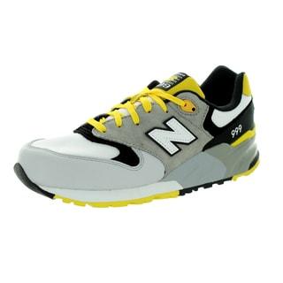 New Balance Men's 999 Classics Grey With Yellow & Black Running Shoe