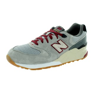 New Balance Men's 999 Classics Light Grey With Grey & Deep Claret Running Shoe