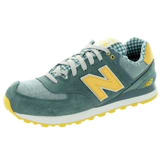New Balance Men's Picnic Pack 574 Classics Chambray With Light Yellow Running Shoe