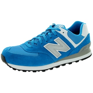 New Balance Men's Varsity 574 Classics Blue With Silver Running Shoe