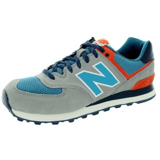 New Balance Men's 574 Out East Tan With Cadet Blue & Orange Running Shoe
