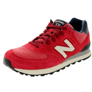 New Balance Men's Pennant Pack 574 Classics Red Running Shoe