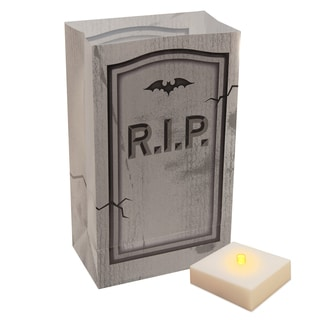 Tombstone Luminaria Kit with Battery-operated Timer (6 Count)
