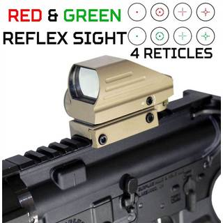 Trinity Tan Red and Green Reflex Sight for Tactical Paintball Markers