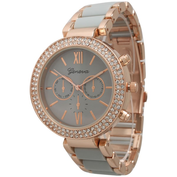 Olivia Pratt Elegant Two-Toned Bracelet Watch