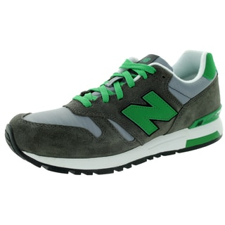 New Balance Men's Rip-Stop Mesh 565 Classics Grey With Light Grey & Green Running Shoe
