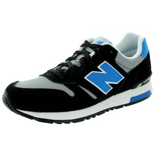 New Balance Men's 565 Mode De Vie Black/Grey/Blue Casual Shoe