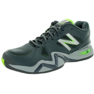 New Balance Men's 1296 Grey With Lime Green Tennis Shoe