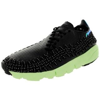 Nike Men's Air Footscape Wvn Mtn City Qs Black/Pink Pow Casual Shoe