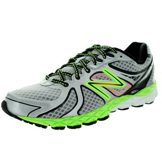 New Balance Men's 870V3 Silver With Lime Green Running Shoe