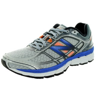 New Balance Men's 860V5 Silver With Optic Blue Running Shoe