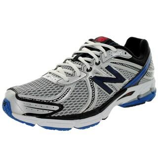 New Balance Men's 770V2 Metallic Silver/Blue/Black Running Shoe