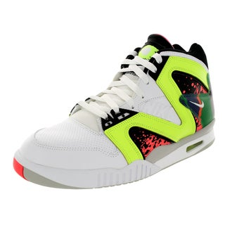 Nike Men's Air Tech Challenge Hybird White/White/Volt/Hot Lava Tennis Shoe