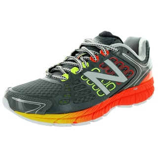 New Balance Men's 1260V4 Grey/Orange/Lime Green Running Shoe