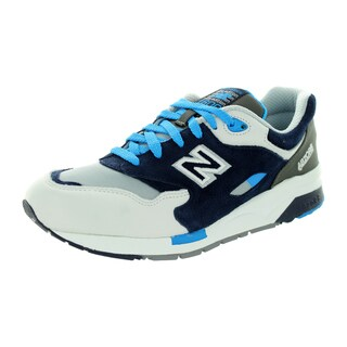 New Balance Men's 1600 Classics Grey With Black & Brightt Blue Running Shoe