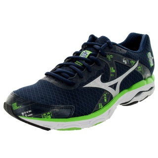 Mizuno Men's Wave Inspire 10 Navy/Grey/Green Running Shoe