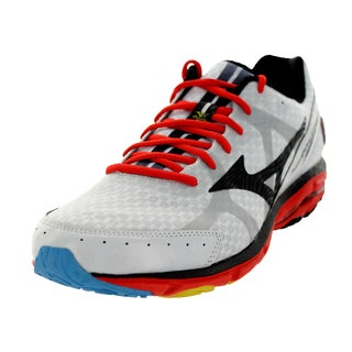 Mizuno Men's Wave Rider 17 White/Black/Red Running Shoe
