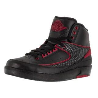 Nike Jordan Men's Air Jordan 2 Retro Black/Varsity Red Basketball Shoe