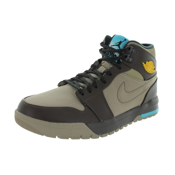 179dfa4b811b5 Shop Nike Jordan Men's Air Jordan 1 Trek Khaki/Vrsty Maize/Brq Brown ...