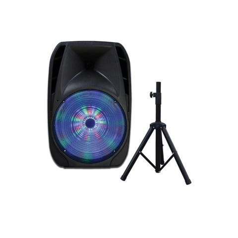 IQ Sound Portable Bluetooth Speaker System - 25 W RMS - Black