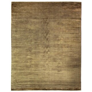 Exquisite Rugs Swell Khaki Viscose Rug (9' x 12')