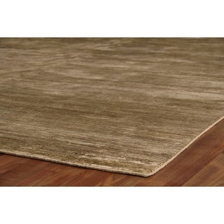 Exquisite Rugs Swell Khaki Viscose Rug (6' x 9')
