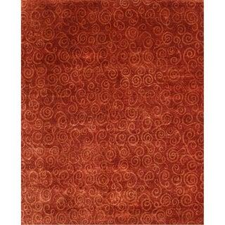 Exquisite Rugs Metropolitan Rust/ Gold New Zealand Wool Rug (9' x 12')