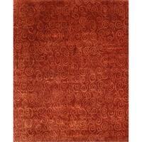 Exquisite Rugs Metropolitan Rust / Gold New Zealand Wool Rug - 9' x 12'