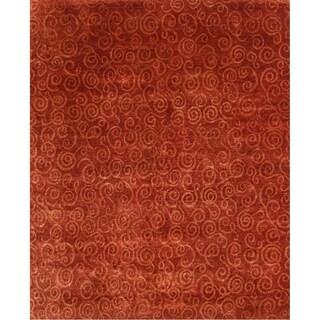 Exquisite Rugs Metropolitan Rust/ Gold New Zealand Wool Rug (8'6-inch x 10'6-inch )