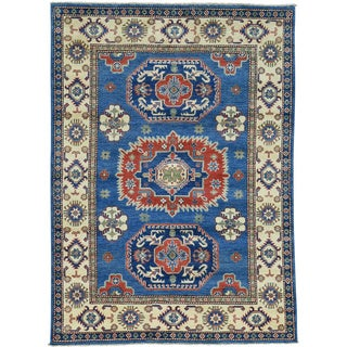 Hand-Knotted Kazak Tribal Design Wool Oriental Rug (4'9x6'8)