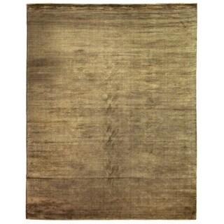 Exquisite Rugs Swell Khaki Viscose Rug (8' x 10')