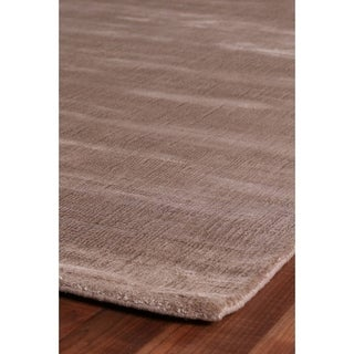 Exquisite Rugs Super Gem Mink Viscose from Bamboo Silk Rug (8' x 10')