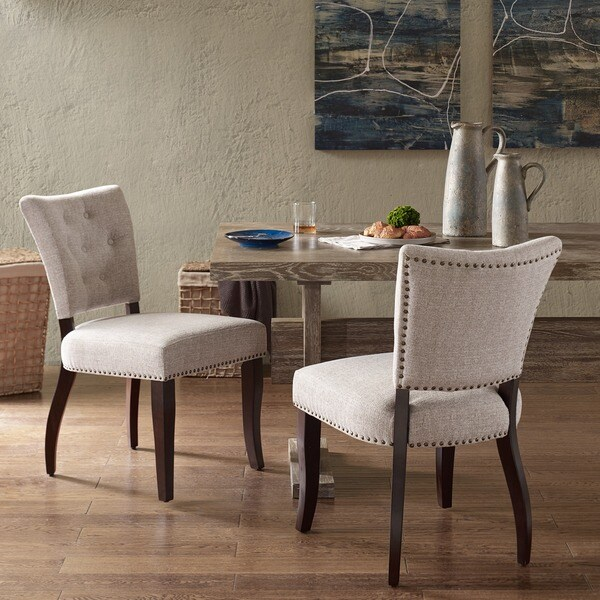 INK IVY Brooklyn Cream Morocco Dining Chair Set Of 2