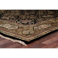 Exquisite Rugs European Polonaise Black New Zealand Wool Rug - 8' x 10'