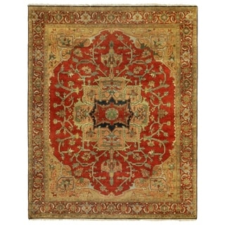 Exquisite Rugs Serapi Red New Zealand Wool Rug (8' x 10')