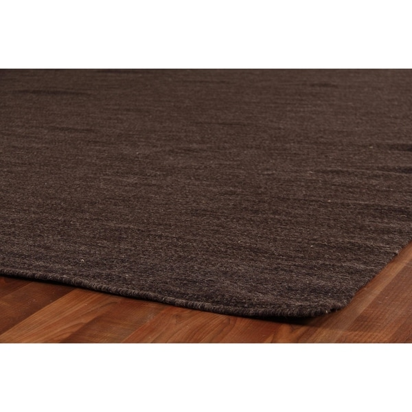 Shop Exquisite Rugs Weathered Flatweave Dark Charcoal New