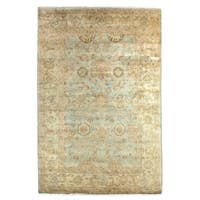 Exquisite Rugs Antique Weave Oushak Light Blue / Ivory New Zealand Wool Rug (10' x 14')
