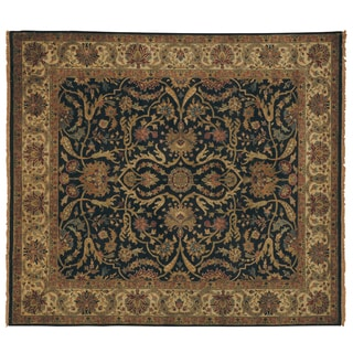 Exquisite Rugs European Polonaise Black/ Ivory New Zealand Wool Rug (14' x 18')