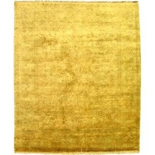 Turkish Oushak Ivory/ Sage Green New Zealand Wool Rug (9' x 10')