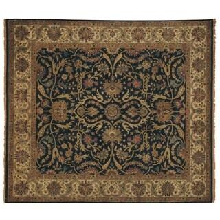 European Polonaise Black/ Ivory New Zealand Wool Rug (9' x 10')