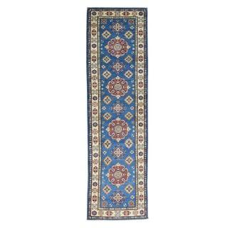 Hand-Knotted Wool Runner Tribal Design Kazak Rug (2'9x9'5)