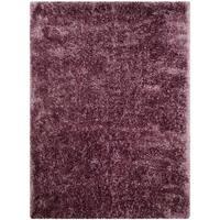 LYKE Home Jumbo Thick Shag Area Rug Purple - 5' x 7'