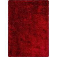 LYKE Home Jumbo Thick Shag Area Rug Red - 5' x 7'