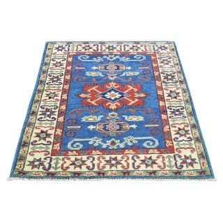 Hand-Knotted Kazak Tribal And Geometric Design Rug (2'8x3'9)
