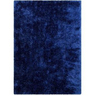 "LYKE Home Jumbo Thick Shag Area Rug ROYAL BLUE 5""0 X 7""0"