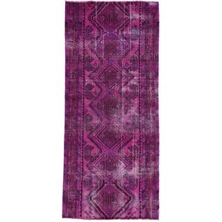 Handmade Overdyed Persian Hamadan Runner Oriental Rug (3'10x9')